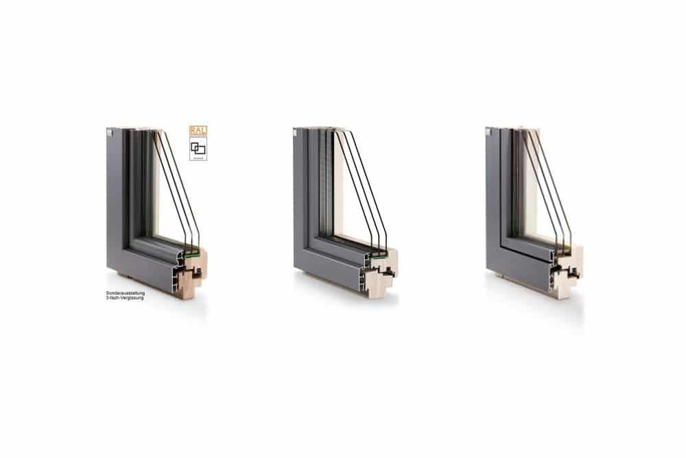 Lutz Produkte Holz-Aluminiumfenster Niveau Produktlinien