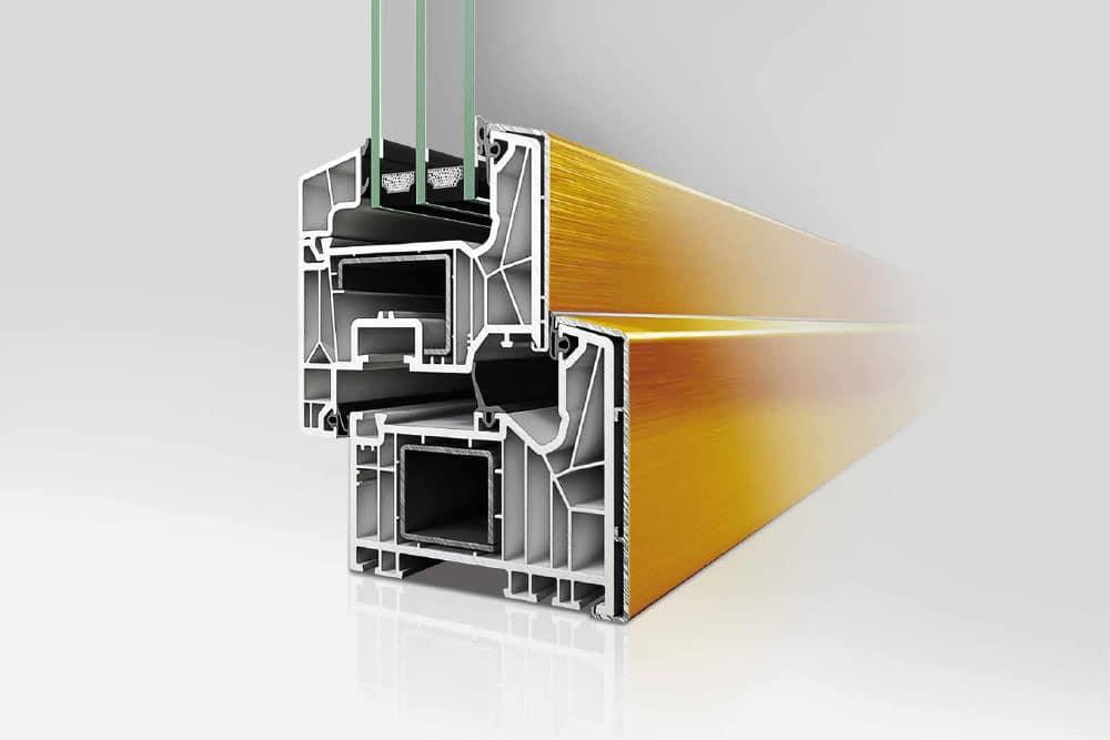 Kunststoff-Aluminium-Fenster Profil